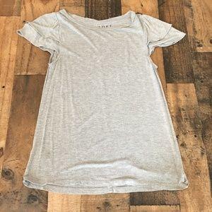Loft Petite Tee Shirt Gray